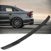 Full Carbon Fiber Rear Trunk Car Spoiler Wing For 14-18 Audi A3 S3 RS3 Sedan V Type 4Door