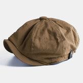 Collrown Erkekler Vintage Ressam Bere Kapakları Sekizgen Newsboy Şapkası Cabbie Ivy Flat Şapka