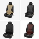 1X assento de carro universal cobre assento dianteiro falso couro pu cobre almofada costura