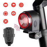 Luz traseira de bicicleta de 3 modos A8 para ciclismo LED Luz traseira de segurança pessoal com alarme anti-ladrão Controle Remoto MTB luz traseira de bicicleta de estrada à prova d'água