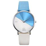 SHENGKE SK K0095 Simple 2 Color Dial Quartz Watch