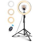 ELEGIANT EGL-06S 10 Zoll 3 Beleuchtungsmodi Helligkeitsanpassung LED Ringlicht Stativ Stativ Live Selfie Halter mit Fernbedienung für YouTube Tiktok VK Vlog