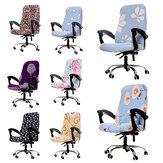 [Tamaño M] Funda elástica para silla de oficina Protector de silla giratoria para ordenador Estirar sillón Asiento Funda para muebles de oficina en casa Decoración