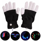 1-Pair XANES 003 15 x LEDs 7 Modes 1mw Street Dance Glowing Colorful Gloves Laser Glove