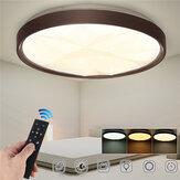 50CM 3 Mod Kısılabilir LED Ultra-ince Elmas Tavan Işığı + 2.4G / Kızılötesi Uzakdan Kumanda 180-260V