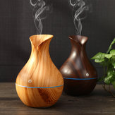 USB Electric Wood Grain Ultrasonic Cool Mist Luftfugter