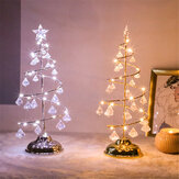 Battery Powered Christmas Tree Lamp Delicate Acrylic Crystal LED Night Light for Indoor Bedroom Decor