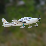 Dynam SR22 V2 White/Silver 1400mm Wingspan EPO 1:12 Scale RC Airplane Beginner PNP With Flaps