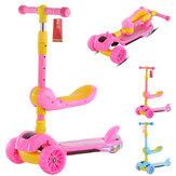 3-in-1 Katlanabilir Kick Çocuk Scooter Toddler 3 Tekerlek Erkek Kız Ayak Scoot Denge Bisiklet