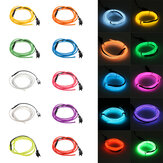 1M 10 colores 3V flexible Neón EL Alambre Light Dance Party Decor Light Batería Controlador encendido