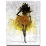 Modażółtadziewczynaminimalistycznasztukaabstrakcyjna Obrazy olejne na płótnie oprawione / Unframed