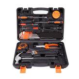 Zestaw narzędzi precyzyjnych 19 w 1 Zestaw narzędzi ręcznych do użytku domowego Klucz do śrubokrętów Hammer Szczypce Auto Naprawa narzędzi stolarskich