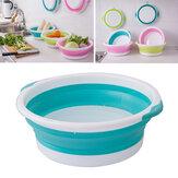 Banheira com prato redondo dobrável de plástico opcional de 4 tamanhos Pés de mão portátil Lavatório com economia de espaço para viagens de acampamento ao ar livre