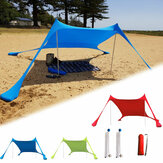 210x210x160CM Family Beach Sunshade Lightweight Anti-UV Sun Shade Tent With Sandbag Anchors For Parks & Outdoor Camping