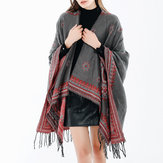 Vintage Ethnic Style Scarf Shawl with Tassel