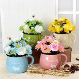 Simülasyon Çiçek Kasımpatı Çaydanlık Çömlekçilik 4 Renk Seçebilir
