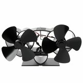 YL301 8 Blades Fireplace Fan Stove Fan Heated Fan Heat Powered Eco Fan