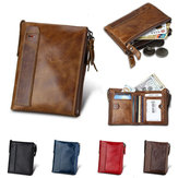 IPRee® Men's Vintage RFID Blocking Wallet Men Genuine Leather ID Card Holder Coin Pocket Purse