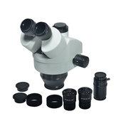 HAYEAR Simul-focal 7X-45X Trinocular Zoom Stereo mikroskop głowica mikroskopu WF10X 20mm soczewka okularu