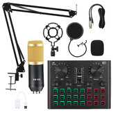 BM800 Pro Condenser Microphone Kit with V8 Plus Muti-functional Bluetooth Sound Card