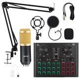 BM800 Pro Kit de microphone à condensateur avec V8 Plus Carte son Bluetooth multifonctionnelle