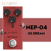NAOMI NEP-04 Mini Single Distortion Pedal for Electric Guitar US Dream DC 9V True Bypass