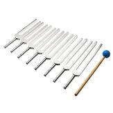 8 stuks aluminium stemvork muziekinstrument Reflex Hammer Set met hamer