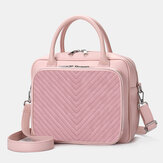 Femmes Designer Striped Laptop Bag Crossbody Bag Sac à main