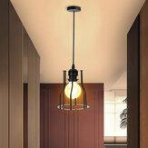 E27 suspension industrielle abat-jour en fil métallique Cage rétro plafond salle à manger abat-jour d'hôtel