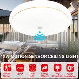 LED Motion Sensor Ceiling Light Bedroom Kitchen Round Panel Home Fixture Lamp