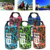 15L Waterproof Bag Camping Rafting Storage Dry Bag Swimming Bag Lightweight Diving Floating Bag