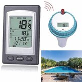 Solar Powered Digital Wireless Swimming Pool Thermometer SPA Floating Temperature Meter with 3 Channels Time Alarm Calendar
