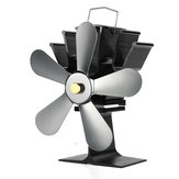 5 Blade Heat Self-Powered Wood Stove Fan Top Log Burner Fireplace Silent Ecofan