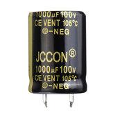 3Pcs 1000UF 100V 22x30mm Condensador electrolítico de aluminio radial Alta frecuencia 105 ° C