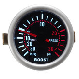 2 Inch 52mm Universal LED Car Turbo Boost Pressure Gauge 30 Psi Meter Smoked Dials