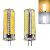 G4 6 W Warm Wit / Pure Wit 5730 SMD 80LED Silicone Dimbare LED Lamp AC110V / 220 V