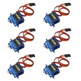 6PCS SG90 Mini Analog Gear Micro Servo 9g för RC-flygplanshelikopter
