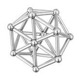 63 szt. Neodymowe pręty magnetyczne Metalowe kulki Odciążenie magnesu stałego Magnes neodymowy