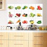 45 * 70cm Gemüse-Frucht-Ölbeweis Wand-Aufkleber-entfernbarer wasserdichter Aufkleber-Ausgangsdekor
