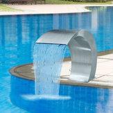 Aço Inoxidável 60 × 30 cm Piscina Sotaque Fountain Pond Jardim Natação Piscina Cachoeira Feature Faucet
