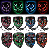 Halloween 4-Modes LED Masque léger El Wire Up Up Funny Mask La Purge Election Year Grand masque de Cosplay