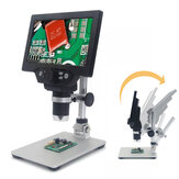 Microscopio digital MUSTOOL G1200 12MP 7 Inch Pantalla a color grande Base grande LCD Pantalla 1-1200X Continuo