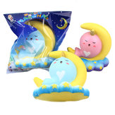 Sanqi Elan 16CM Animal Squishy Unicorn Moon NarWhale Slow Rebound With Packaging Gift Collection