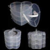 Almacenaje de la decoración del clavo del organizador del maquillaje del caso plástico transparente portable de 3 capas