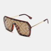 النساء Plus حجم إطار سميك من قطعة واحدة مربعة الشكل شخصية الموضة الاتجاه UV حماية النظارات الشمسية