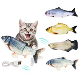 USB Charging Electric Cat Toy 3D Fish Simulation Fish Interactive Cat Toys for Cats Pet Toy Cat Supplies