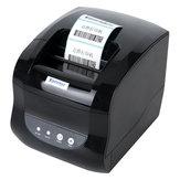 Xprinter XP-365BサーマルレシートプリンタビルPOSプリンタバーコードQRコードプリンタUSBポートスーパーマーケット店レストラン用XP Windows 7 8 10