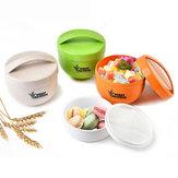 Honana almoço redondo da fibra do trigo 800mL Caixa Tote saudável amigável portátil do recipiente de alimento de Eco