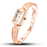 SOXY 0123 Rose Gold Case Rectangle Dial Design Ladies Bracelet Watch Fashion Style Quartz Watch
