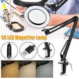 5X Lupenklemmenhalterung LED Lupenlampe Maniküre Tattoo Beauty Light